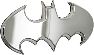 Fan Emblems Batman Car Badge, Chrome Batwing Logo 3D Automotive Sticker Decal, Flexes to Fully Adhere to Most Smooth Surfaces - Vehicles, Laptops, Windows, Almost Anything