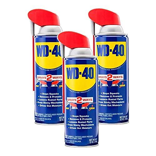 WD-40 Multi-Use Product with Smart Straw Sprays 2 Ways, 3-Pack, 12 OZ