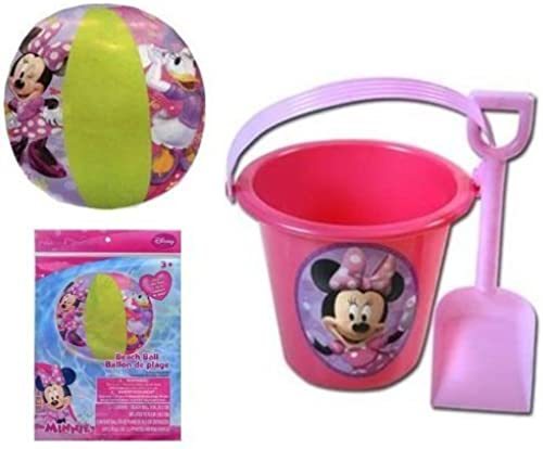 Minnie Mouse Bowtique Sand Bucket and Shovel + plage Ball Set by Minnie