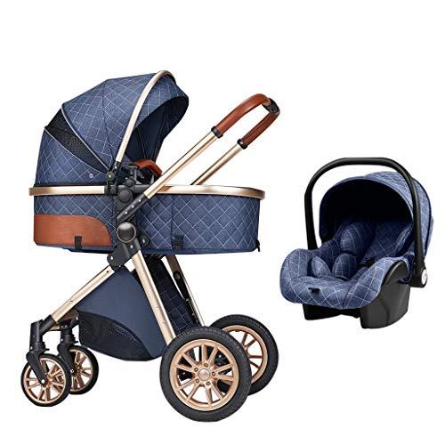 XYSQ Cochecito 3 En 1, Cochecito De Bebé, Cochecito Compacto, Cochecito De Cuna, Sistema De Viaje para Bebés, Cochecito De Bebé De Primera Vista con Canasta para Bebés para Recién Nacido Y Bebé