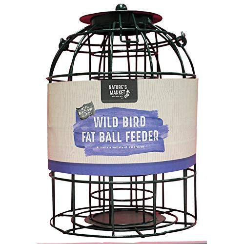 HomeZone  SQUIRREL PROOF FAT BALL Bird Feeder with Cage Safe Guard Outdoor Cage Proofing for Garden