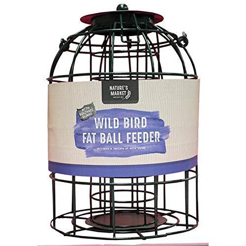 HomeZone Garden Mile Écureuil Étanche Alimentation Cage Graines Noix Fat Boules avec Sûr Garde Extérieur Cage Étanchéité pour Jardin - Boule de Graisse Mangeoire