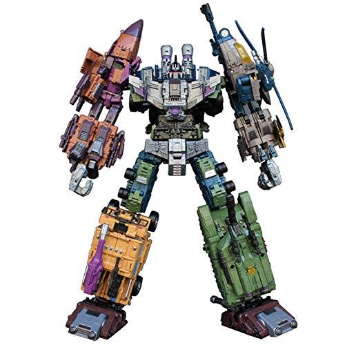 NOLO 5 in 1 Bruticus Trasformazione Giocattolo Oversize Cool Anime Azione Figura Robot Car Military Tank Model Toys (43 Cm)