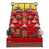 人形の久月 雛人形 七段飾り 七番親王 七寸揃え 横幅 120×奥行 160×高さ 177(cm) 14kyu-7044