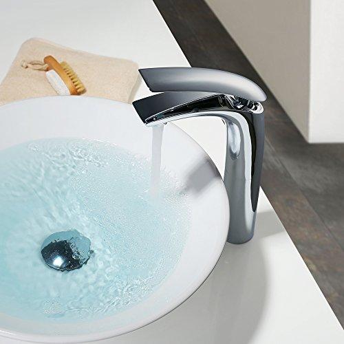 Homelody – Design-Waschtischarmatur, Einhebelarmatur, ohne Ablaufgarnitur, hoher Auslauf, Chrom - 2