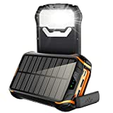 Waterproof Solar Power Bank 26800mAh, xiyihoo Portable Charger with 3 Outputs &Ultra-Bright Flashlight, External Battery Pack USB C Quick Charge Power Bank for iPhone, Samsung and Outdoor Camping