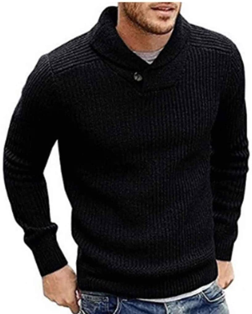 ZYING Men's Sweater Winter Casual Male Wool Jumper Pullover Fashion High Street Pleated Slim Fit Knitted Sweaters Men Clothing (Color : S Code)