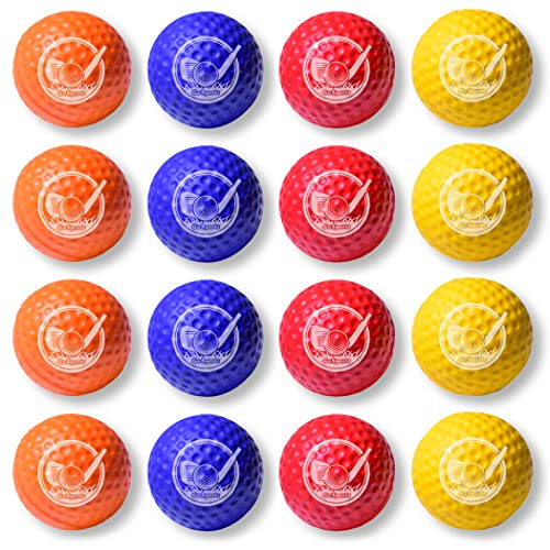 Lowest Price! GoSports Foam Golf Practice Balls - 16 Pack | Realistic Feel and Limited Flight | Use ...