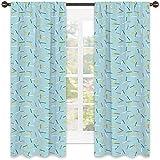 Tenda geometrica termoisolante, Cool Line Art Vintage schema di colori tradizionali geometrici elementi illustrativi, per soggiorno o camera da letto, 172 x 200 cm, multicolore