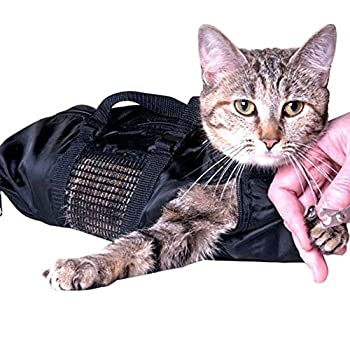 AILOVA Sac Toilettage pour Chat, Toilettage pour Animaux de Retenue de Chat Sacs Toilettage Sac de Bain de Retenue Trim Nail Examen Oreille Propre