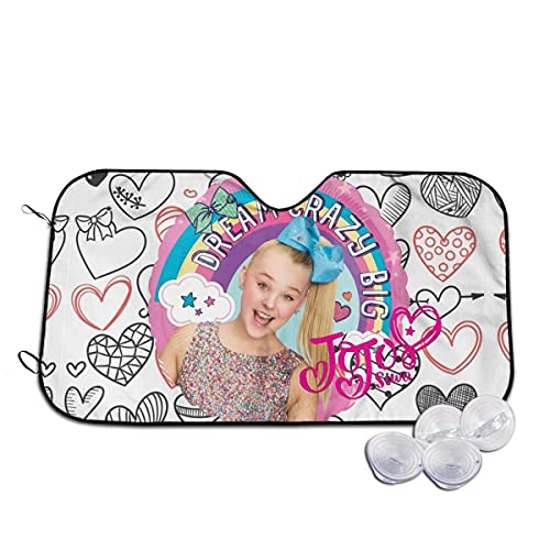 JoJo-Sweet Summer Car Windshield Sun Shades Defense Visor Sunshade Protector Fits Most Car SUV S