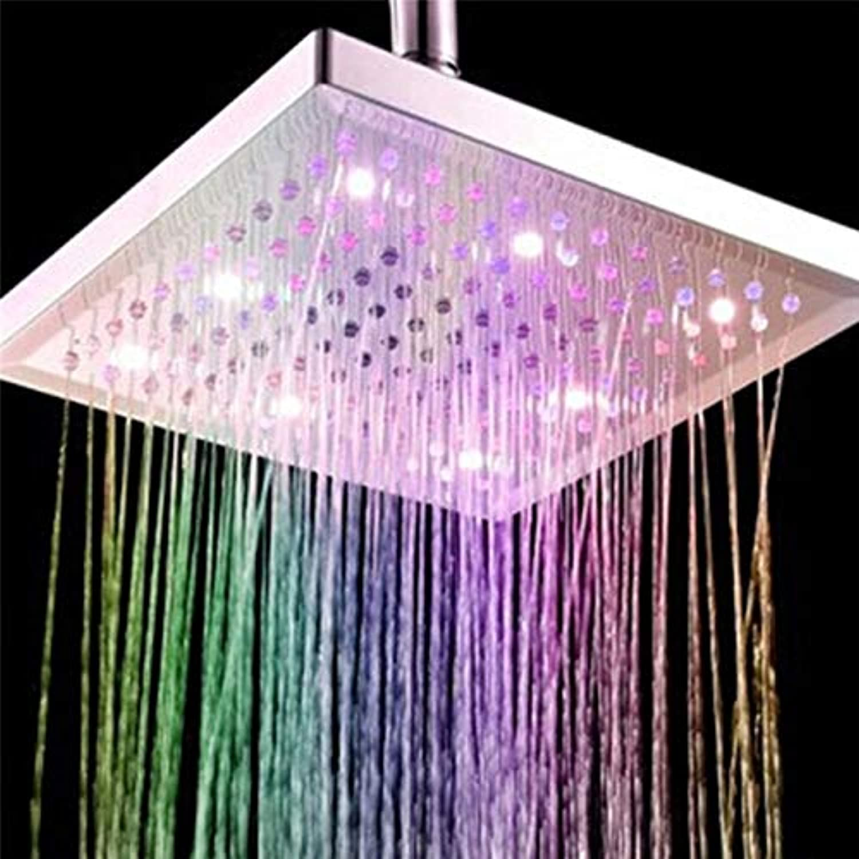 Led Light Shower 7 colors Led Auto Changing Shower Square Head Light Rain Water 26 Home Bathroom Bathroom