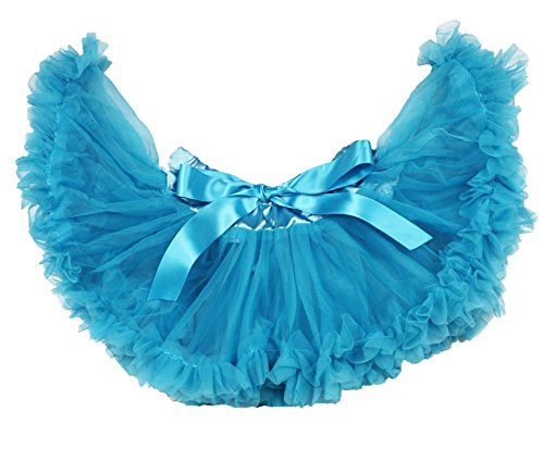 Pauw Blauw Pasgeboren Baby Pettiskirt Rok Tutu Jurk Meisje Kleding Nb-12m