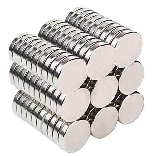 Faburo 70pz Magneti Piccoli, Magnete permanente Calamita, Mini Magneti Neodimio per Frigorifero, Calamite per Lavagna, Magnete Potenti 10 x 2 mm