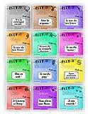 Carte à gratter personnalisable ASTRO - Message au choix - Annonce grossesse ou événement - Modèle ticket de jeu - 12 signes du zodiaque au choix