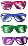 Playscene Party Glasses, 80's Shutter Glasses (2 Dozen Multicolored)