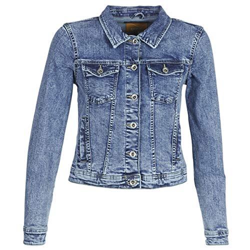 ONLY Damen onlTIA DNM Jacket BB LB BEX01 Jeansjacke, Blau (Light Blue Denim), (Herstellergröße: 38)