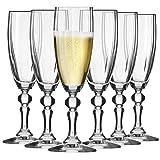 Krosno Sektgläser Champagner-Gläser Sektflöten | Set von 6 | 180 ML | Illumination Kollektion | Prosecco Glas | Perfekt für zu Hause, Restaurants und Partys | Spülmaschinenfest