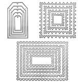 FineGood 3 set di fustelle per la fabbricazione di carte, geometria metallo fai da te fustellatura cornici fustellature stencil per la decorazione dell'album Scrapbooking