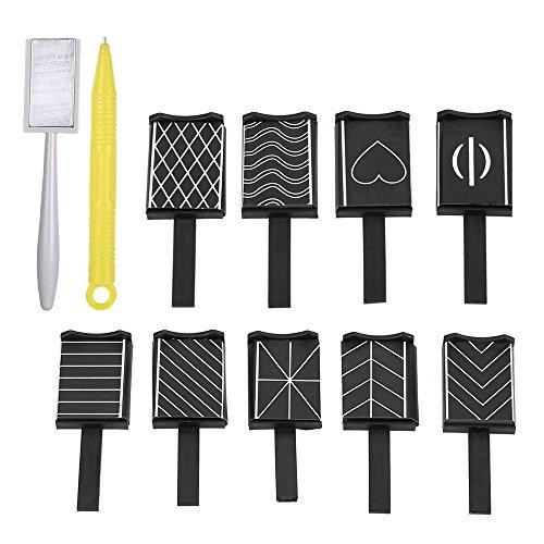 Benkeg Aimant Bâton Ongle - 11 Pièces/Set 3D Magnet Stick Pen Cat Eye Magnétique Dessin Vertical Stick pour Ongles Gel Outils Ongles Magiques Polonais