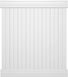 Outdoor Essentials Pro Series Hudson White Vinyl Privacy Fence Panel Kit, 6 Ft. x 6 Ft.