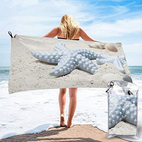 Toalla de playa de microfibra Starfish, de secado rápido, ligera, sin arena, para viajes, al aire libre, manta de micro fibra, alfombrilla fina, personalizada, para mujeres, hombres, adultos