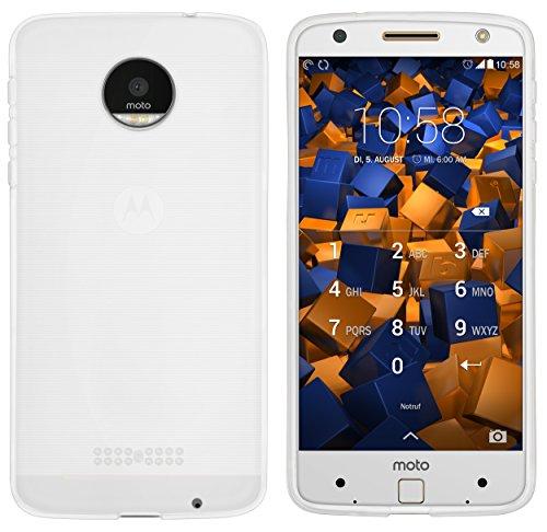 mumbi Hülle kompatibel mit Lenovo Moto Z Handy Case Handyhülle, transparent Weiss