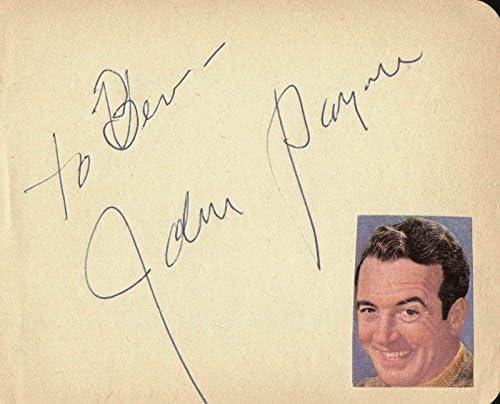 John Payne - Super sale Signature Inscribed Max 80% OFF