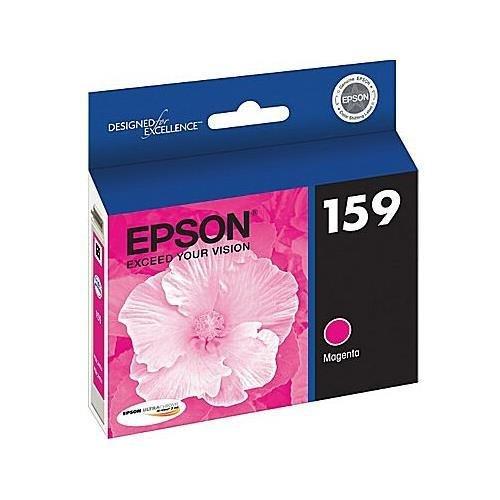 Epson T159320 Magenta UltraChrome Hi-Gloss 159 Ink Cartridge for Epson Stylus Photo R2000 Ink Jet Printer OEM