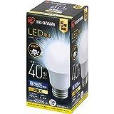 アイリスオーヤマ LED電球 口金直径26mm 広配光 40W形相当 昼光色 密閉器具対応 LDA4D-G-4T6