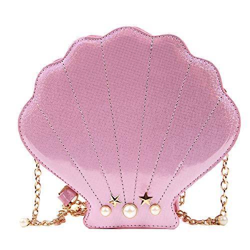 EVEOUT Mädchen Neuheit Laser Shell Shaped Geldbörsen, Vogue Crossbody Schulter Geldbörsen Mini Bag für Damen