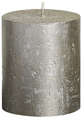 Rustickal 103667630307Metallic- Stumpenkerze, Paraffin- Wachs, champagnerfarben