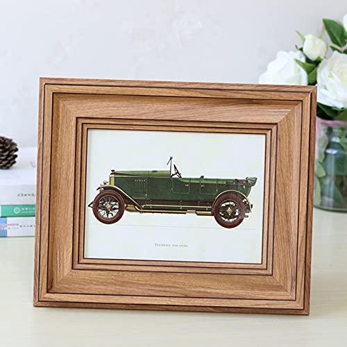 Marco de fotos retro estilo simple marco de fotos 5 colores pintura de mesa marcos de arte rectángulo 1 pieza marco para decoración del hogar escritorio (color: C, tamaño: 6 pulgadas)