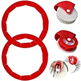 Pie Crust Protector Shield Pie Crust Set+ Pastry Wheel Decorator And Cutter Silicone Pie Protectors...