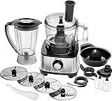 Proficook KM 1063 - Procesador de alimentos, 11 accesorios, 1200 W, color negro y gris