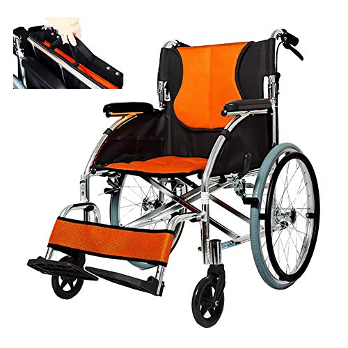 WHYTT Rollstuhl Faltbar Leichter Rollstuhl mit Steckachsen Trommelbremse, Medical Transportrollstuhl Erweiterte Größe: Länge 104cm * Breite 68cm * Höhe 90cm Produkt-Nettogewicht: 14kg