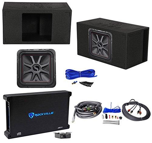 "KICKER 45L7R154 15"" 1800 Watt L7R Car Subwoofer+Ported Box+Mono Amplifier+Wires"