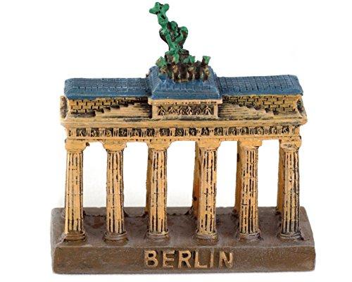 Pawlowski Souvenirs & Postkarten Brandenburger Tor Skulptur Miniatur Souvenir Berlin 7,5 cm Höhe 7,5 cm Breite