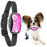 GoodBoy Small Rechargeable Dog Bark Collar for Tiny to Medium Dogs Weatherproof and Vibrating Anti Bark Training Device That is Smallest & Most Safe On Amazon - No Shock No Spiky Prongs! (6+ lb)(Pink)