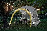 TRIZAND Carpa con paredes laterales de mosquitera con iluminación LED, carpa para jardín, carpa para fiestas, carpa de jardín 12176