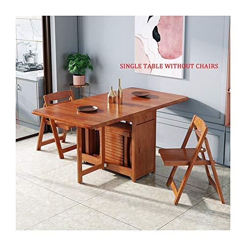 LQIAN Mesa con Ruedas para Cama Mesa Plegable con Ruedas Estante Multifuncional, Moderno Mesa De Comedor, con Silla De Comedor (Color : Cherry, Size : 130x87x75cm)