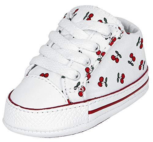 Converse Chuck Taylor First Star Cherry Cribster Kinder & Babies Baby Schuhe weiß/rot EU 18