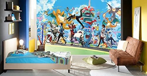3D Murals for Pokemon Pikachu 563 Japan Anime Tapeten Drucken Spiel Karikatur Wandgemälde Selbstklebend Tapete MXY DE Angelia (Gewebt Papier (Notwendigkeit Leim), (82''x58'') 208x146cm(BxH))