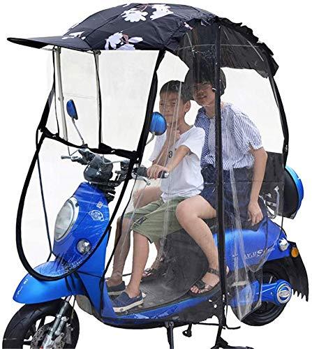 GYMS Universal Motorcycle Umbrella Sun Shade Rain Cover, Fully Enclosed Motor Bicycle Sun Visor Windshield, Waterproof Electric Car Umbrella Canopy,D
