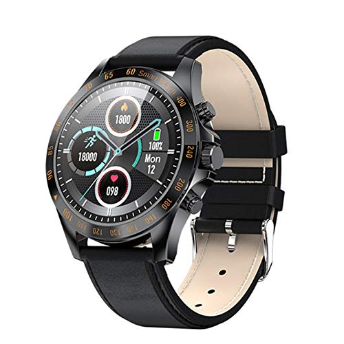 KMF LW09 Hombre Smart Watch IP68 Monitor De Frecuencia Cardíaca Impermeable A Prueba De Agua Pantalla Táctil Completa Deportes Fitness Negocio Moda Estilo Reloj,A