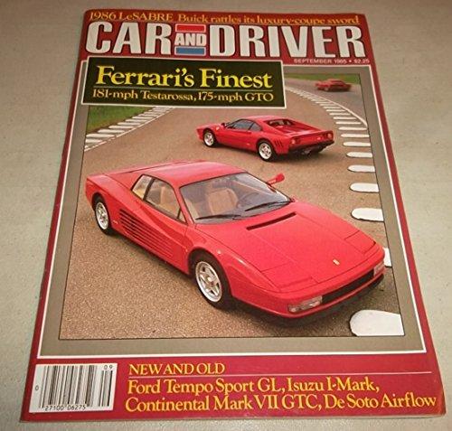 Car & Driver Magazine, September 1985 (Ferrari Testa Rossa, Buick...