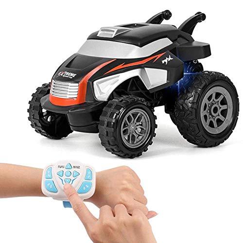 Niños Niños Reloj Control Remoto Coche 2.4G Stunt Dump Truck Stunt Car Coche eléctrico Coche de Escalada Reloj eléctrico Control Remoto Tipping Buggy Boy Toy Niñas Niños Regalos Niños Juguet