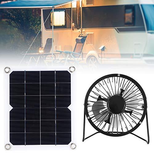 FOLOSAFENAR Panel Solar, Ventilador de refrigeración del Panel Solar Conveniente para Transportar energía Solar Tamaño pequeño Alta eficiencia para Turismo para baterías de automóviles