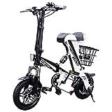 ENGWE eBike Mini Bicicleta eléctrica Plegable de 250 vatios con batería de Litio de 36V8Ah y Frenos de Disco