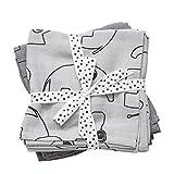 Done by deer 30685 - Pack 2 muselinas con diseño elefante, color gris